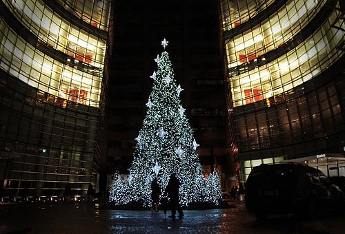 Delightful New York City Bloomberg Tower Christmas Tree ...