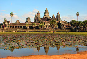 Teaching & Temples, a volunteer opportunity  - shown is Angkor Wat, a symbol of Cambodia