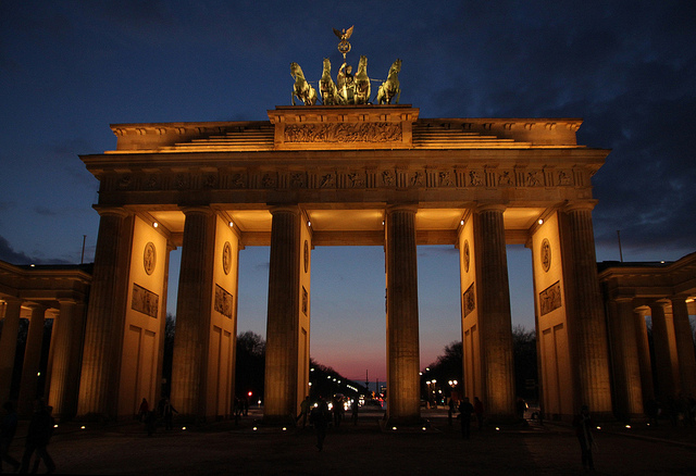 The Brandenburger Gate in Berlin, Germany provides a historical site for runners in the Berlin Marathon - flickr image by Klearchos Kapoutsis