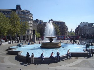 London's Trafalgar Square - flickr image by kevgibbo