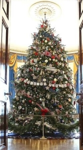 2012 White House Christmas Tree was dedicated to the Military, Veterans and their Families