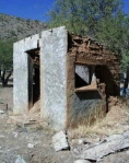 Pictured is one of a few derelict buildings in the ghost town of Humbug, Arizona