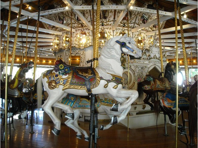 Looff Carrousel (more than 100 years old), photo image by Jessica Lang