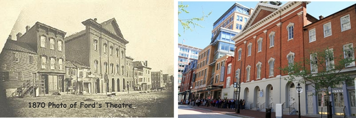 Ford's Theatre in 1870 and in 2011